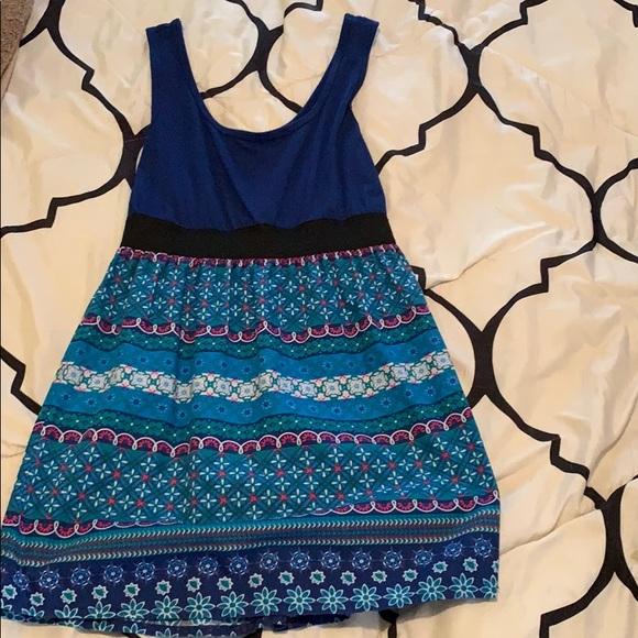 Xhilaration Dresses & Skirts - Blue Patterned Mini Dress